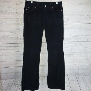 LOFT Corduroy Pants Sz 8 Curvy Boot Black